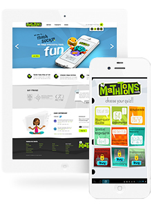 Mathtoons - Website Design by Red Cherry