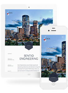 Sentio Engineering - Website Design by Red Cherry