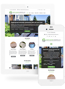 South Island Concrete - Website Design by Red Cherry